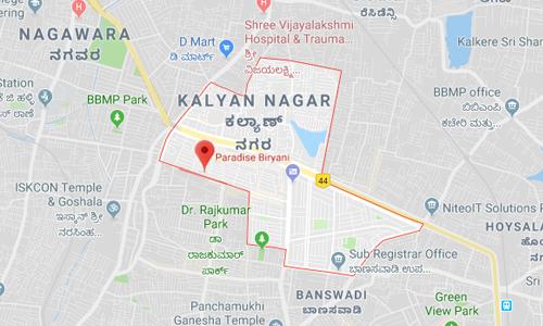 kalyan nagar bangalore map Biryani Restaurans In Bangalore Take Away Restaurant Bangalore kalyan nagar bangalore map